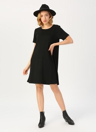 Limon Company Limon Siyah Kısa Kollu Elbise Siyah